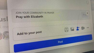 Кнопка «помолиться» в Facebook